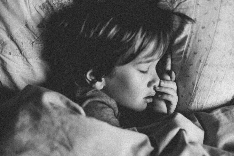 little boy child sleeping aromatherapy