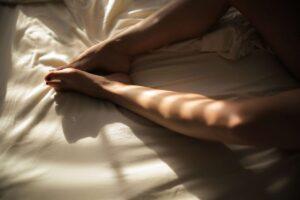 legs bed postpartum sex drive
