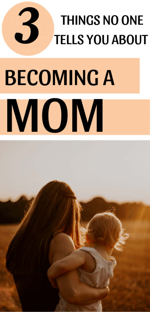 Becoming a mom pin for Pinterest