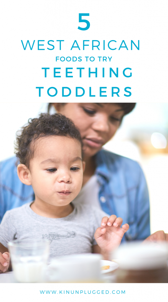 Teething foods for toddlers pin