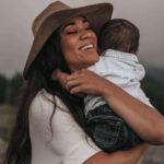 millennial mom with baby boy
