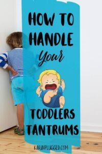 kid with temper tantrum