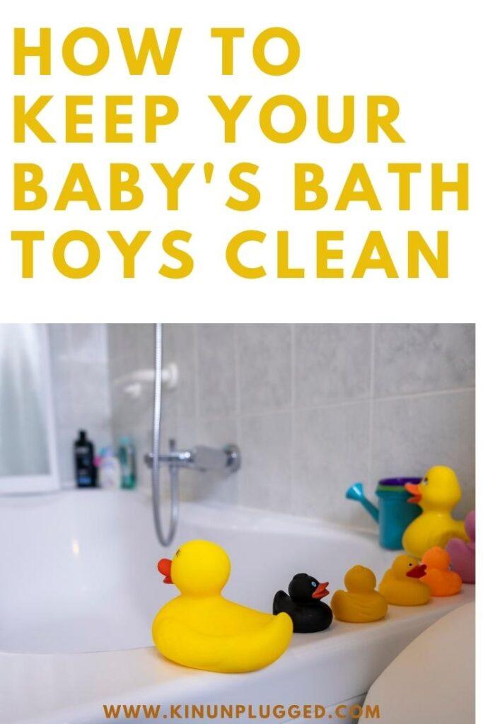 clean bath toys
