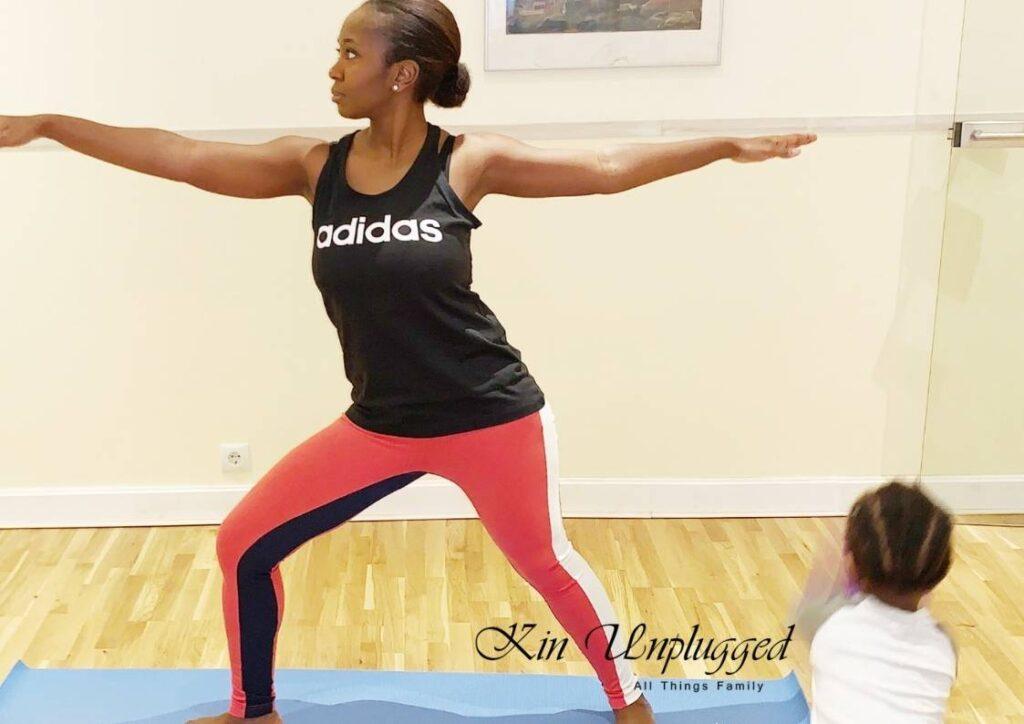 yoga with child