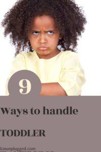 kid with a temper tantrum
