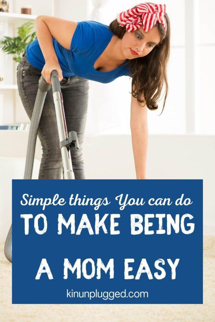 mom hacks for vacuuming