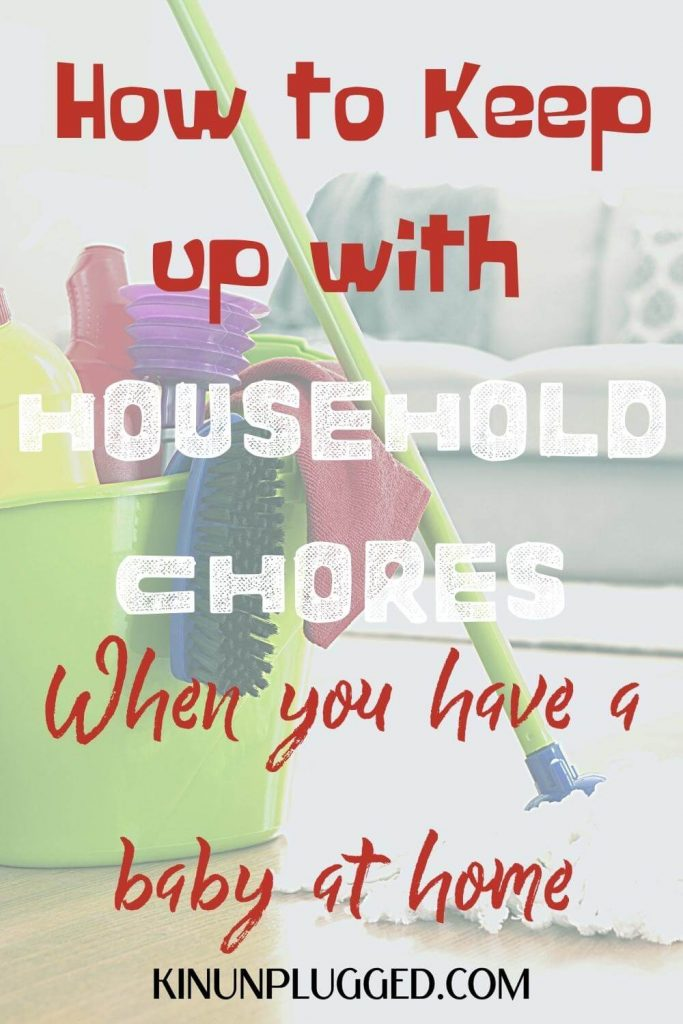 keep up with housework with a baby pin
