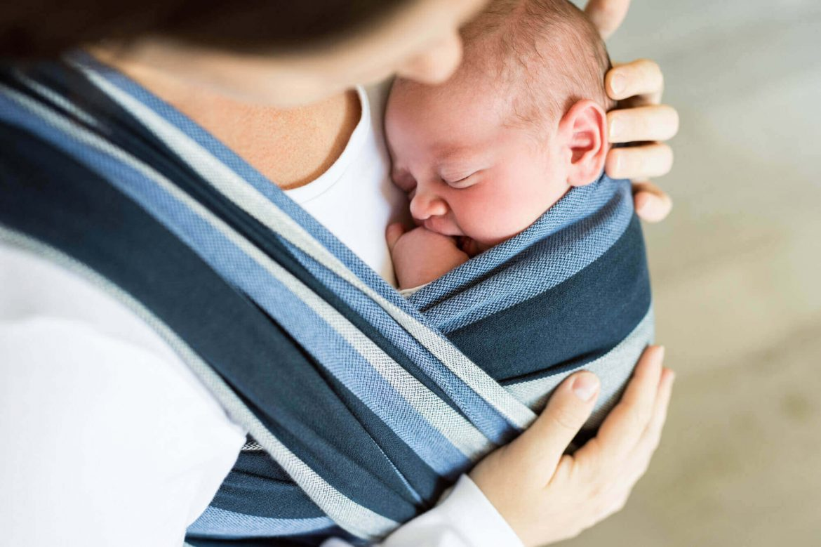 baby in a sling