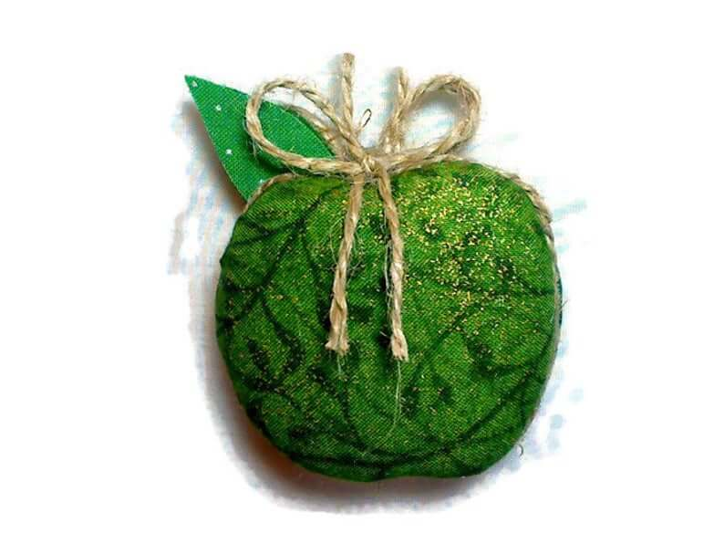 Christmas Home Decorations green apple