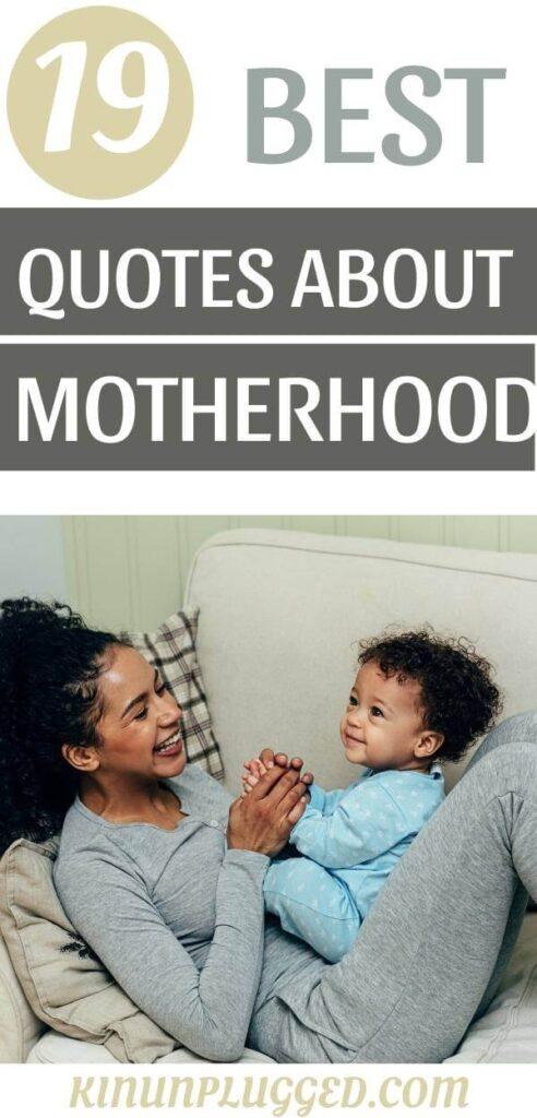 motherhood quotes pin