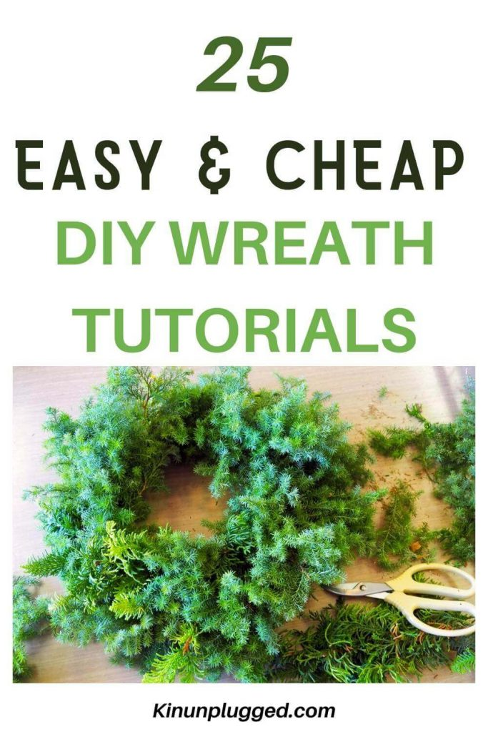 festive wreath tutorial