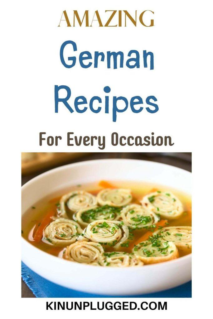 german food ideas