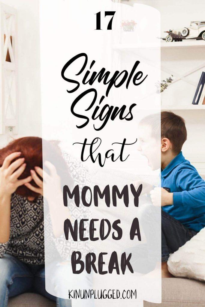 mommy needs a break pin