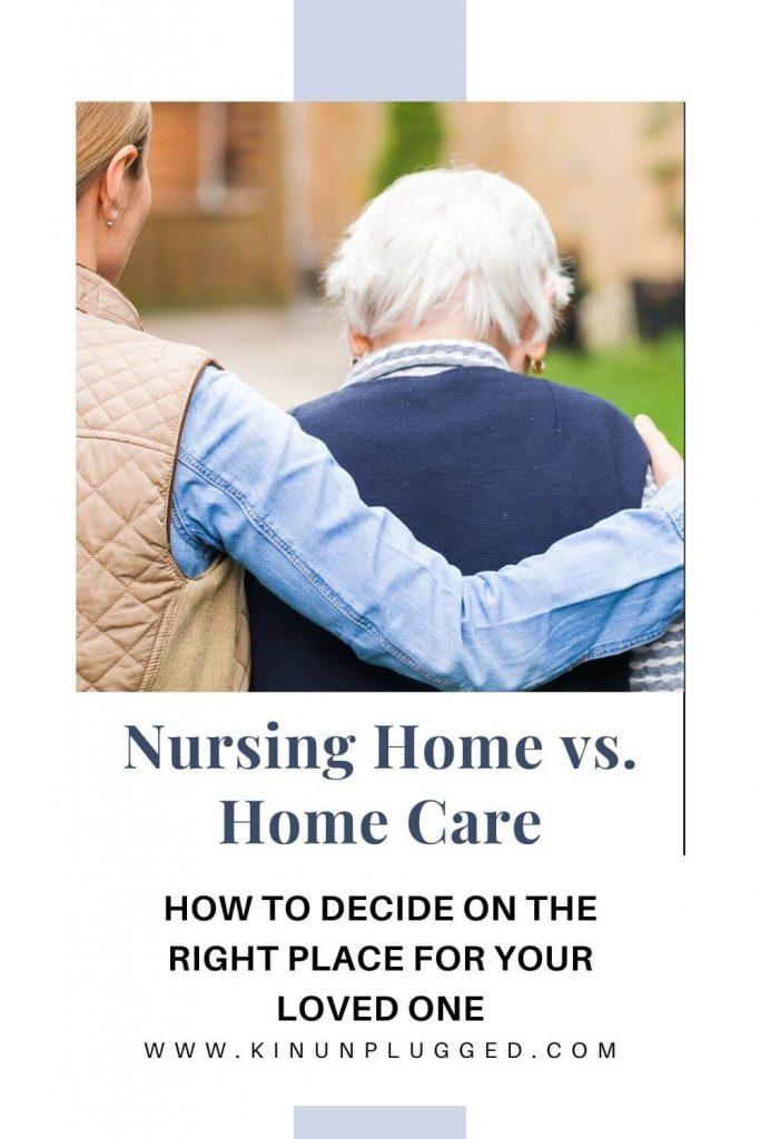 Home care vs. nursing home