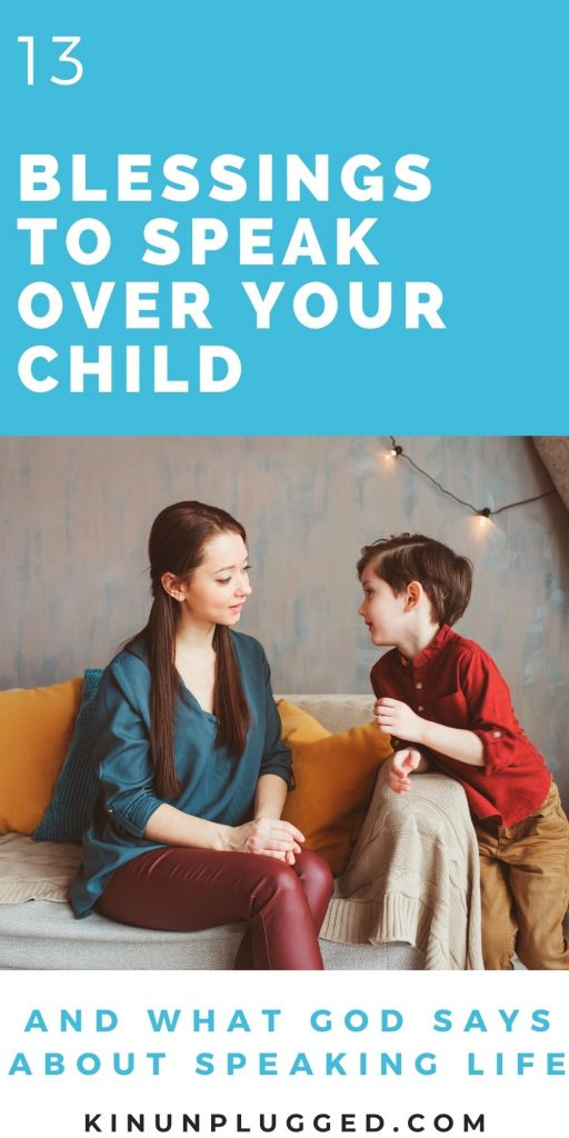 speak life over your child pin