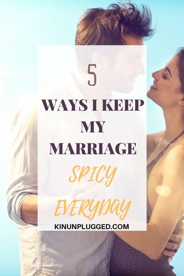 keeping your marriage spicy