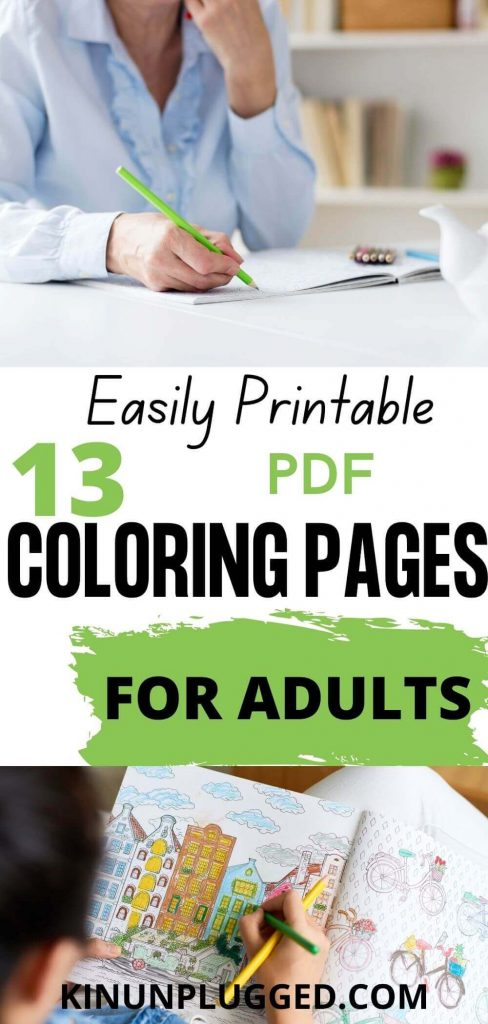 free pdf coloring in sheets for adults