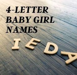 four letter names for girls
