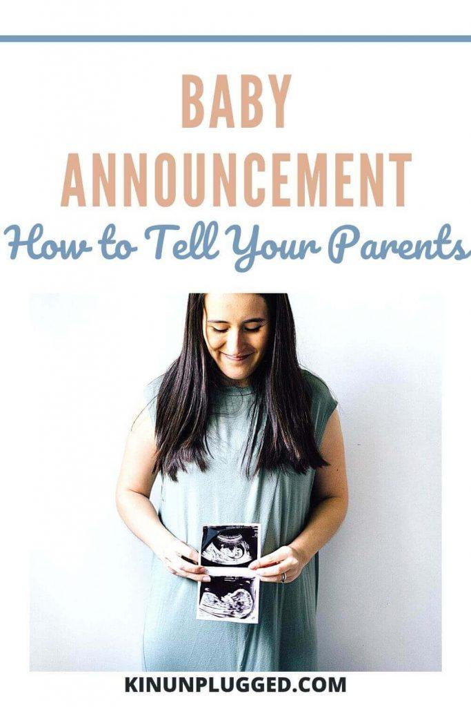 pregnancy announcement ideas for parents