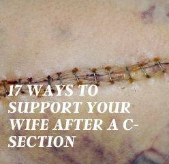 husband support after c-section