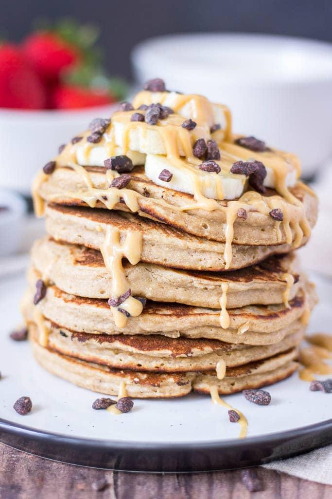 peanut butter no dairy milk easy pancake recipe