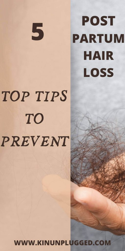 how to stop postpartum hair loss